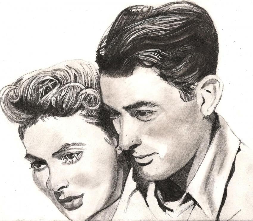 Gregory Peck, Ingrid Bergman by patrick